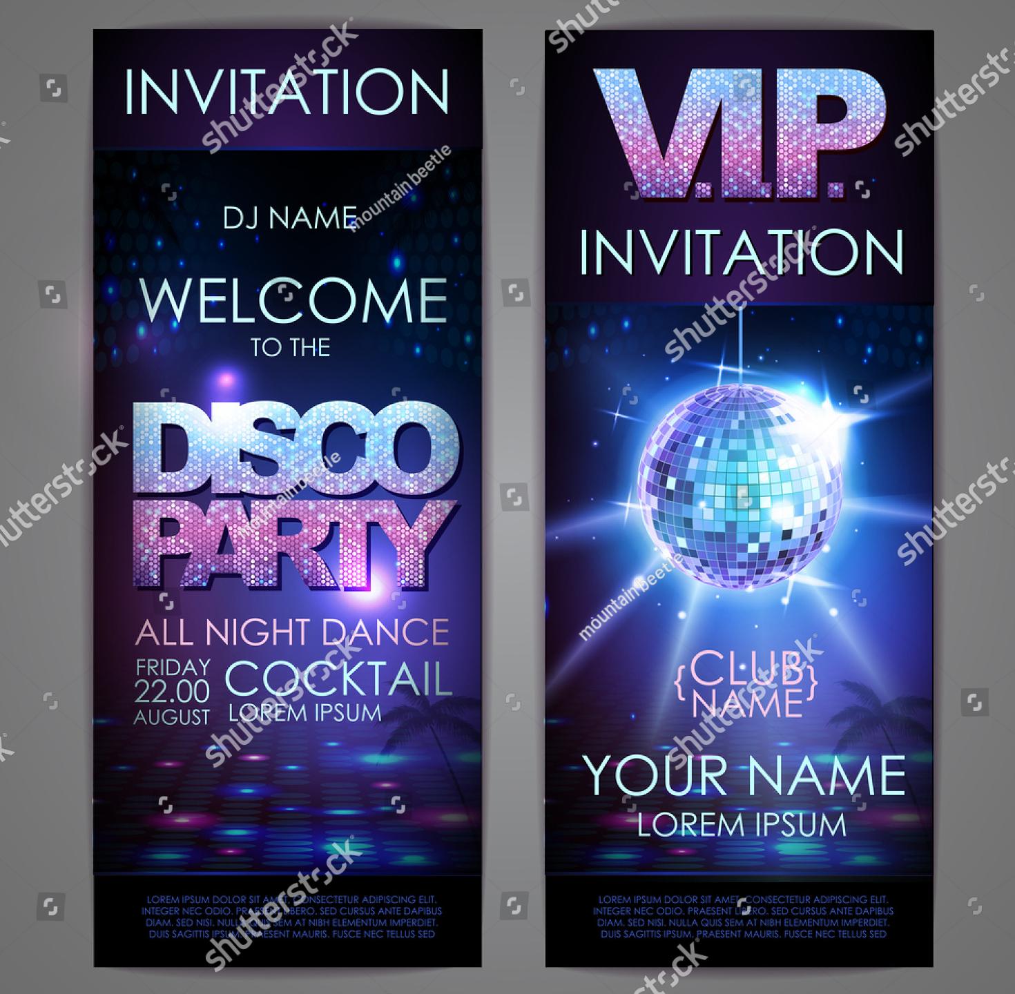music dj party invitation