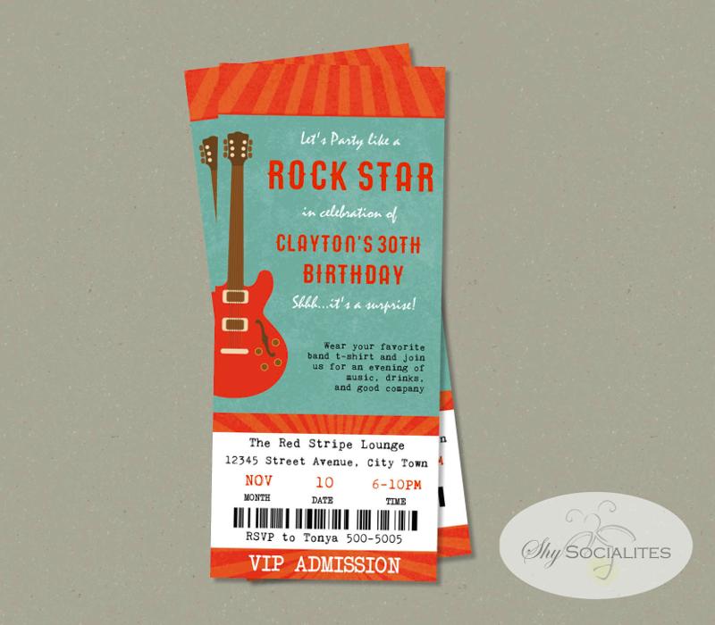 music festival concert ticket invitation