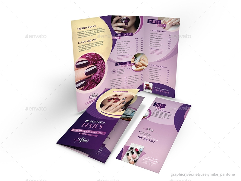 nails salon brochure bundle