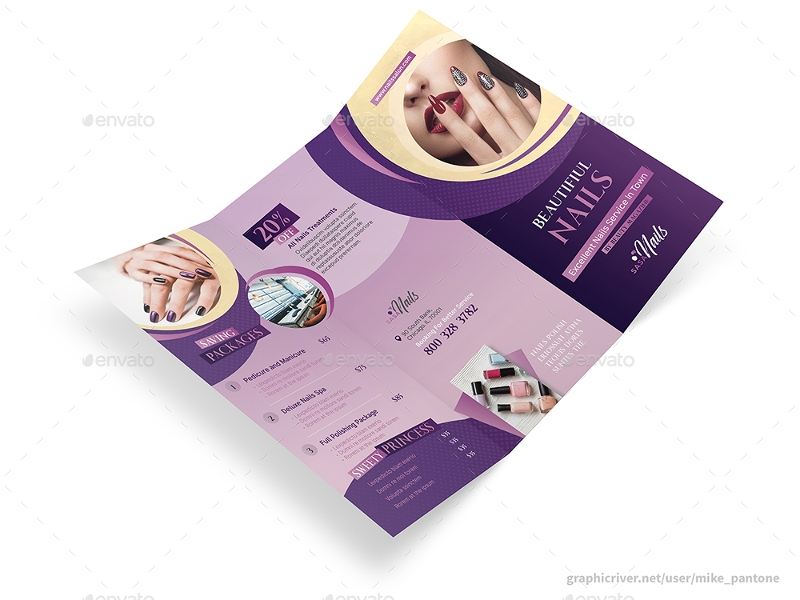 nails salon trifold brochure1