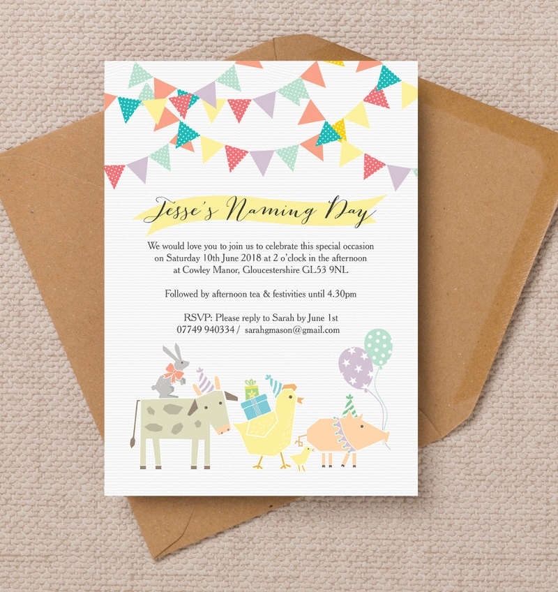naming day ceremony invitation