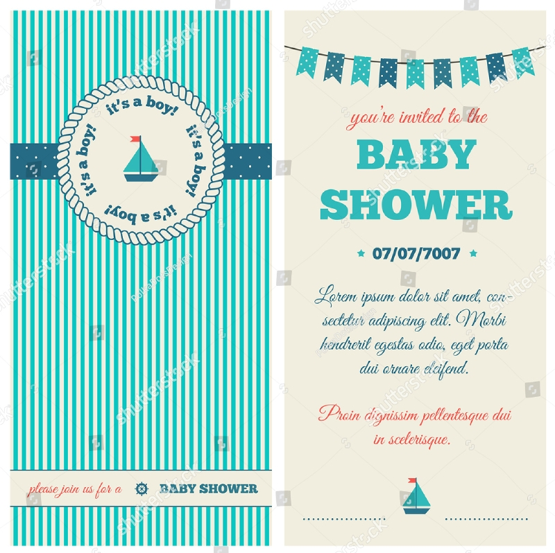 nautical baby shower invitation design