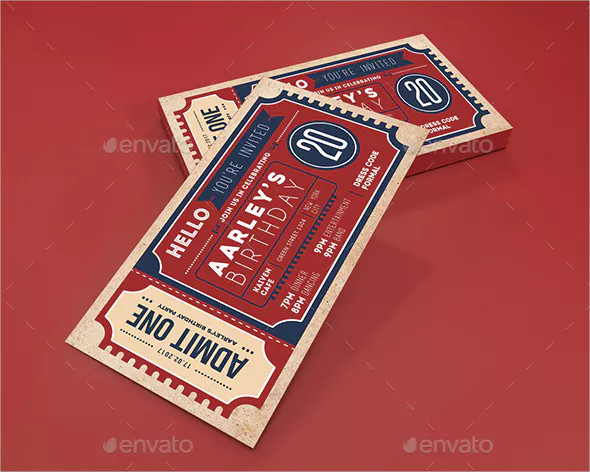 neatly designed invitation ticket