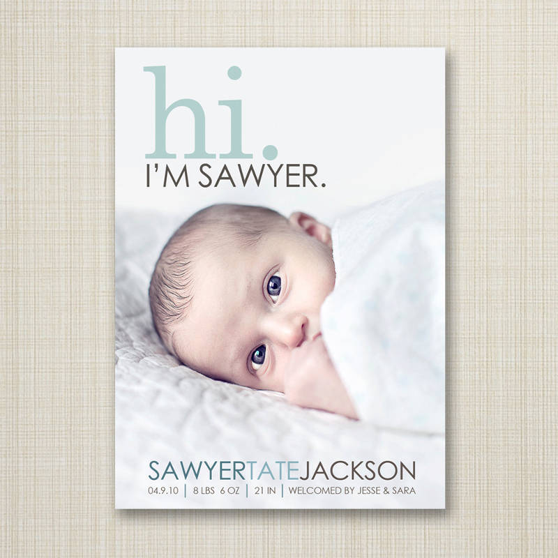 new born birth announcement invitation