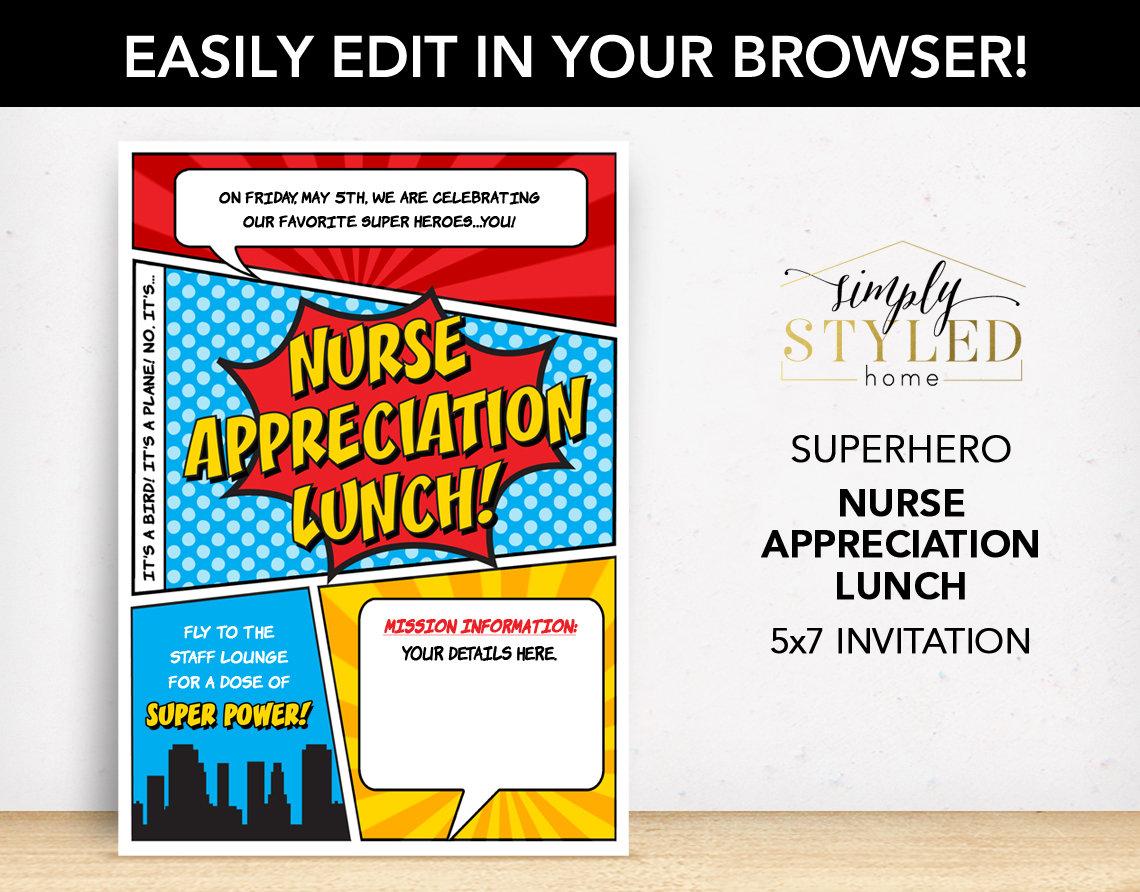 nurse appreciation lunch invitation