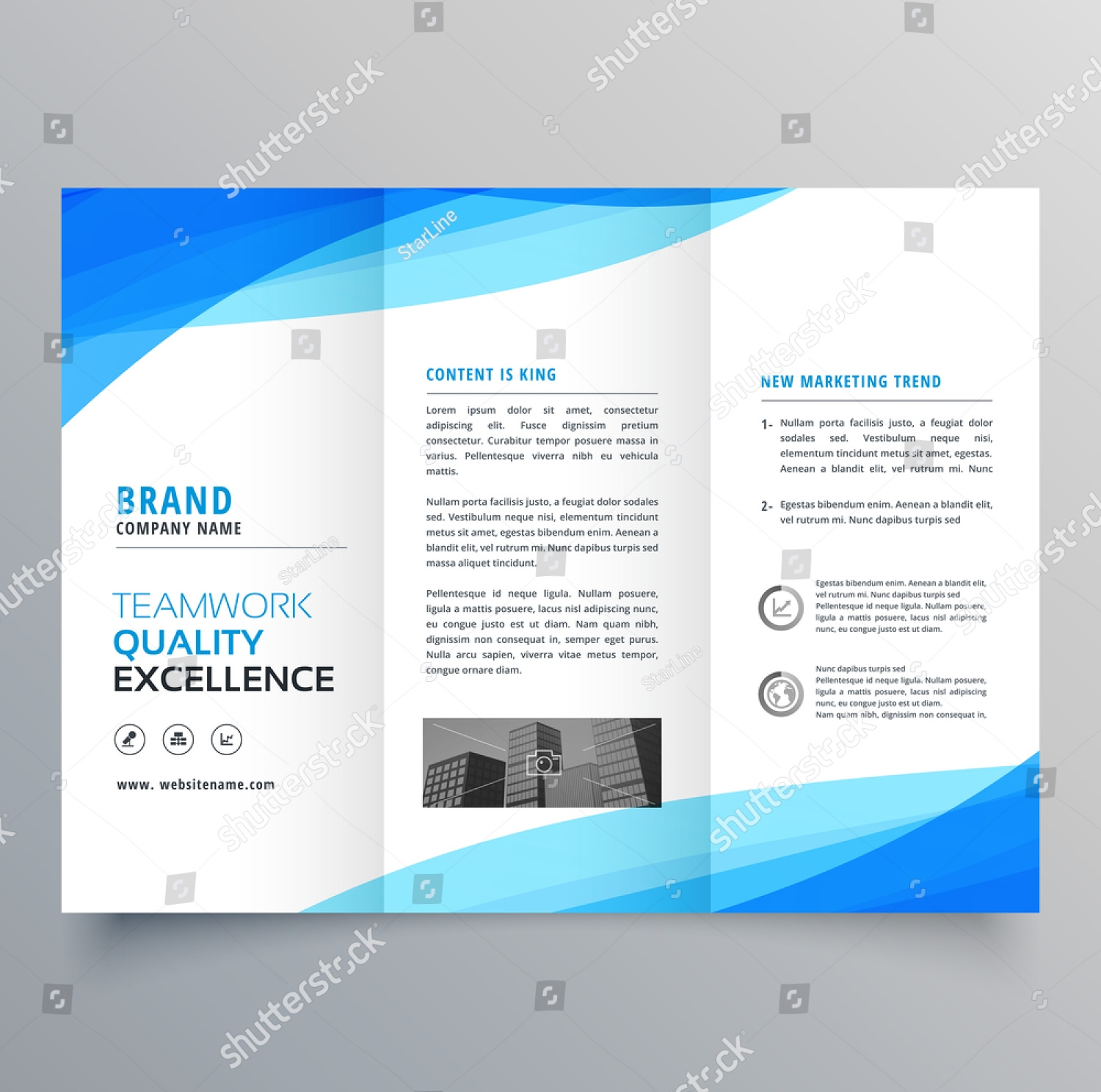 office tri fold brochure