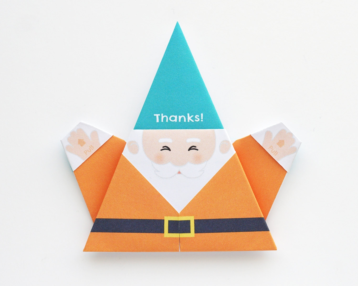 oragami thank you card