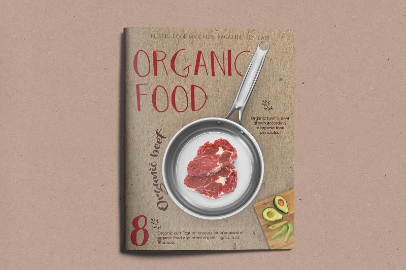 organic food retro brochure