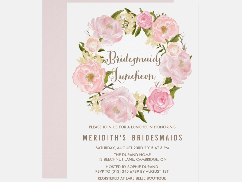 peonies wreath bridesmaid luncheon invitation1