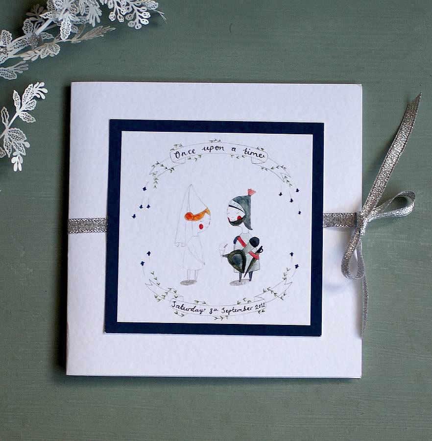 personalised fairytale wedding invitation