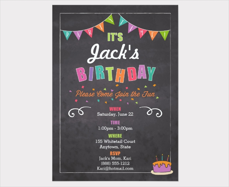 personalize childrens birthday invitation