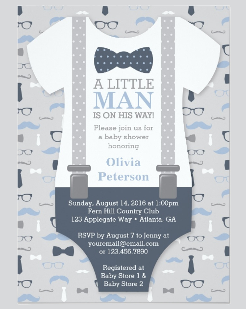 personalized baby shower invitation card