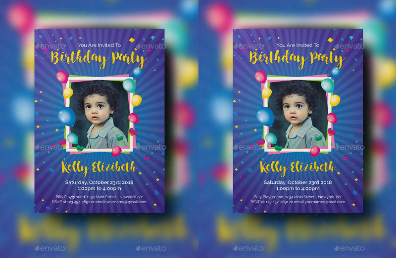 personalized birthday party invitation