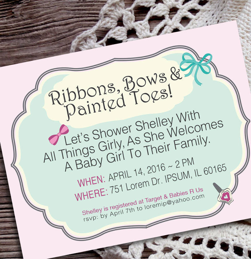 personalized creative baby shower invitation