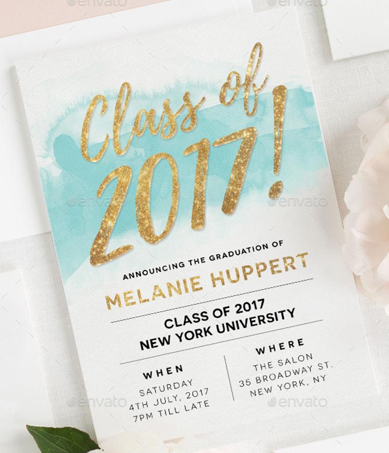personalized graduation invitation