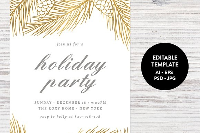 personalized holiday party invitation template