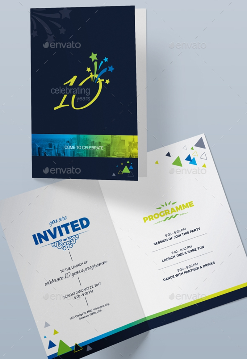 personalized party invitation card
