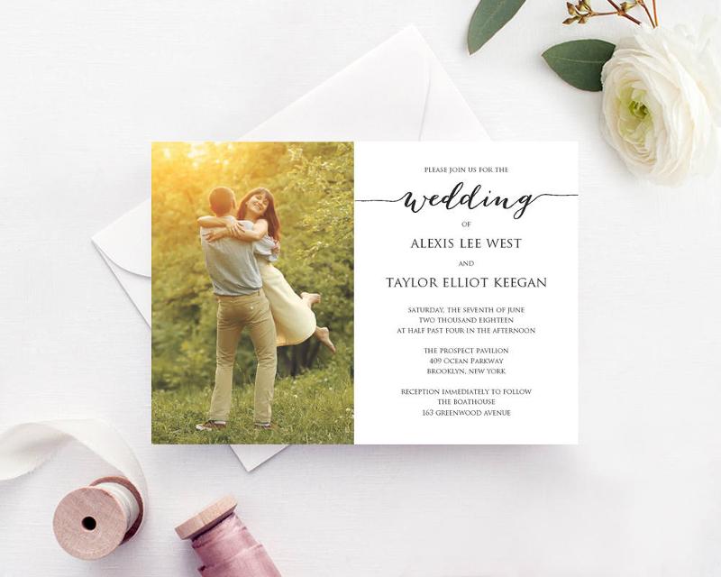 personalized wedding engagement photo invitation