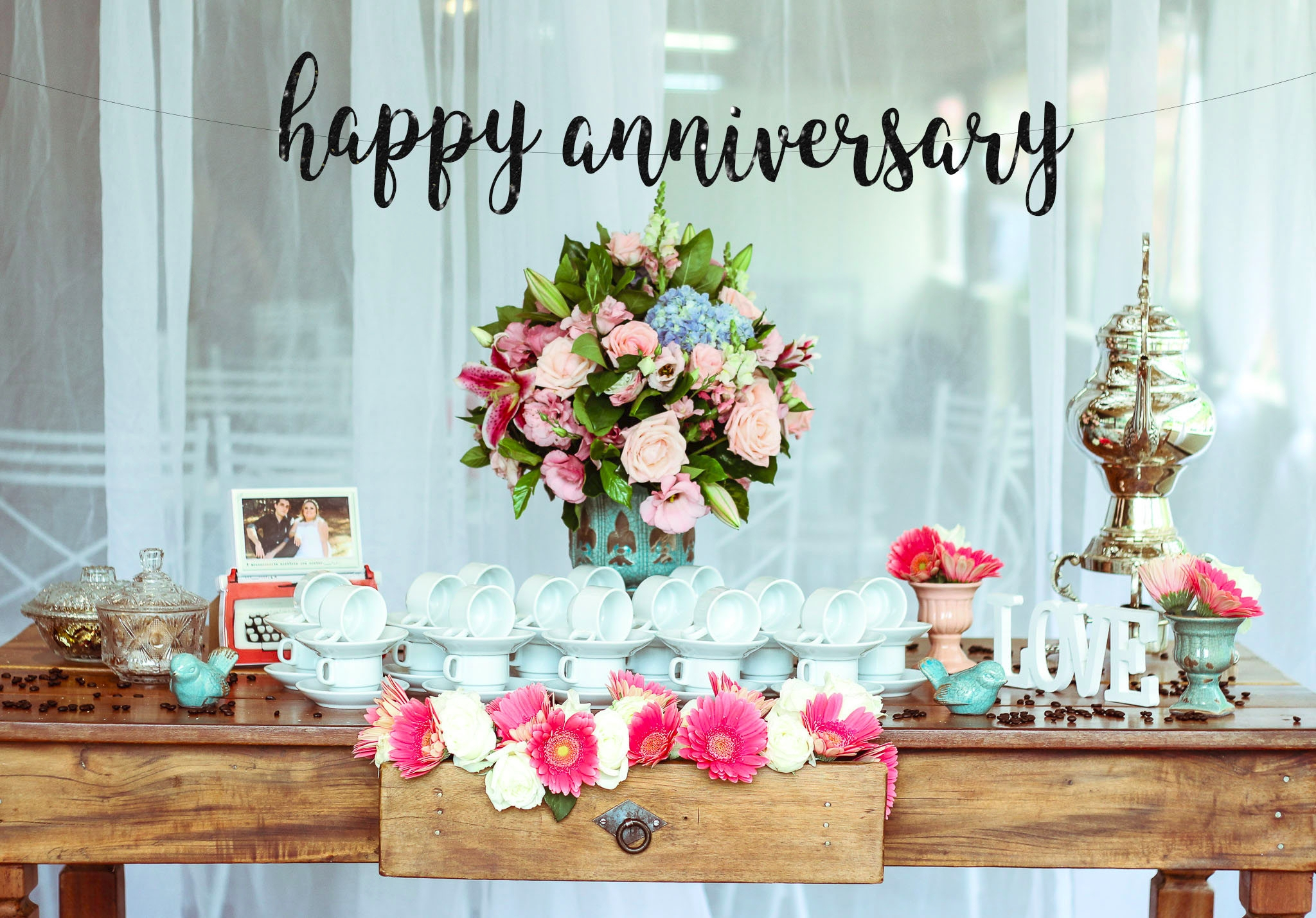 personalized anniversary banner