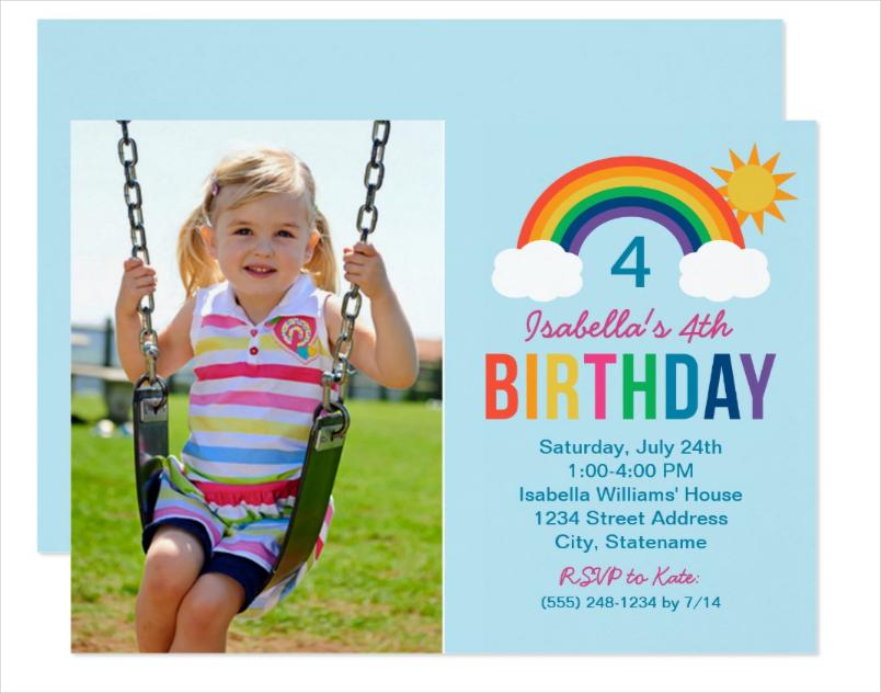photo birthday party invitation1