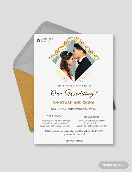 Free 20 Wedding Invitations In Psd Designs Examples In