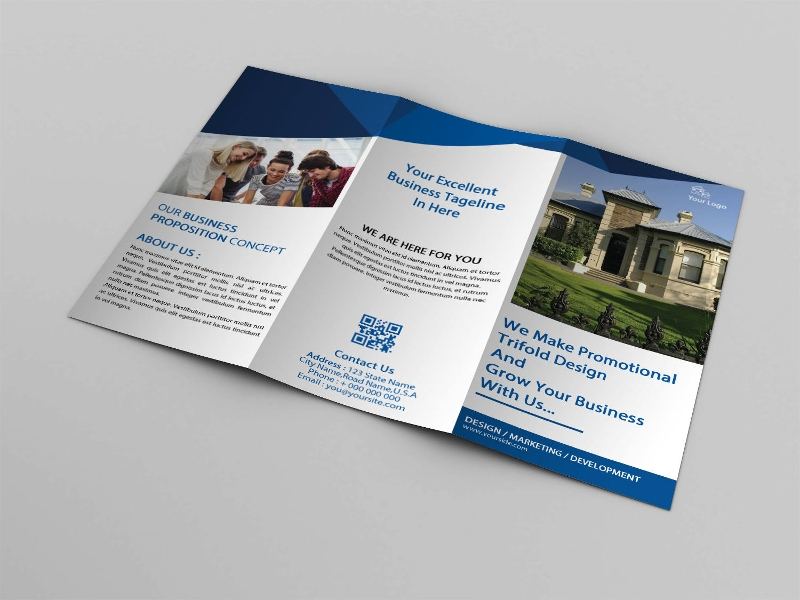 photoshop real estate agency brochure