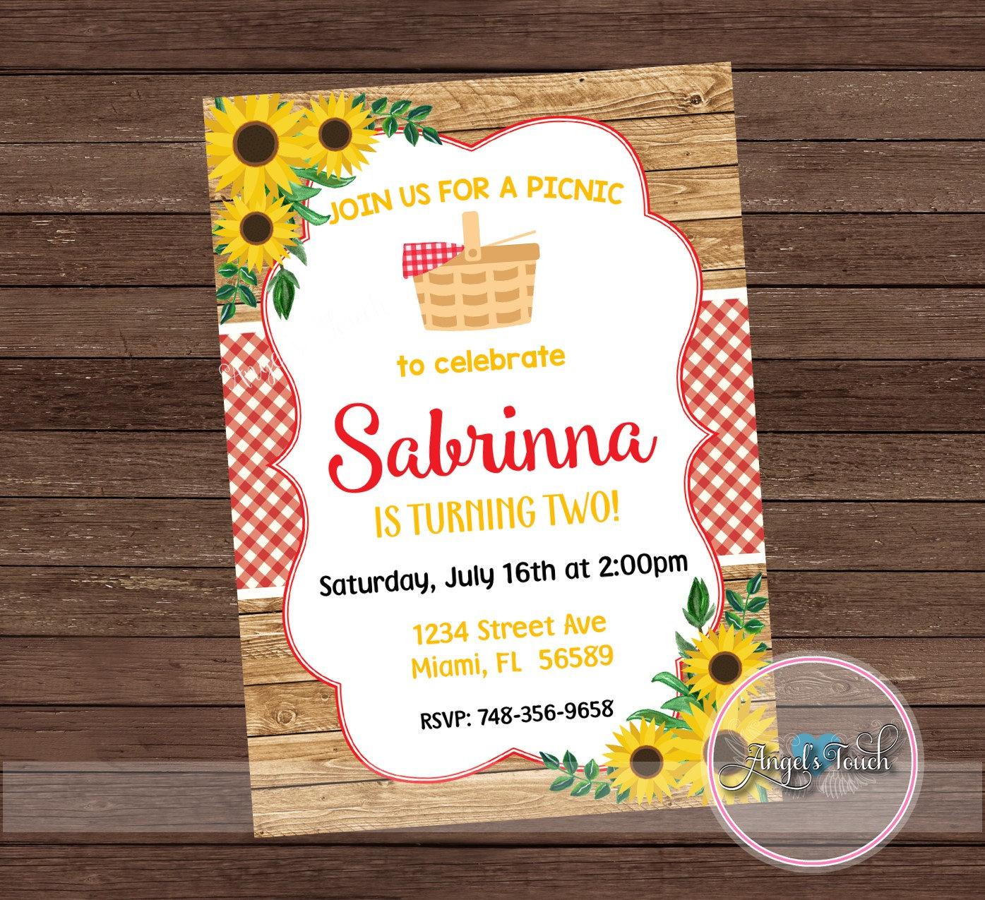picnic birthday party invitation1