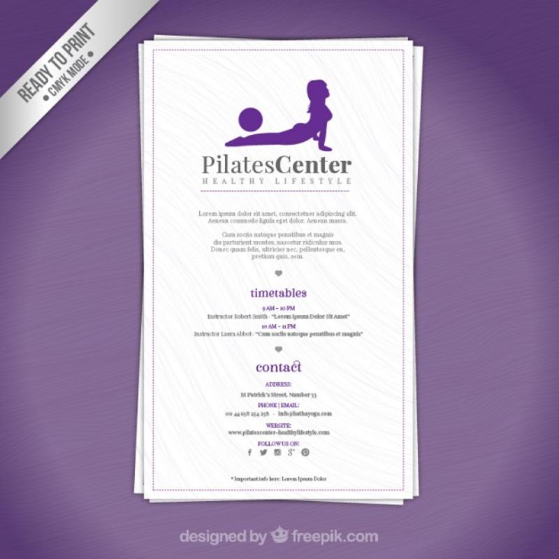 pilates gym center brochure