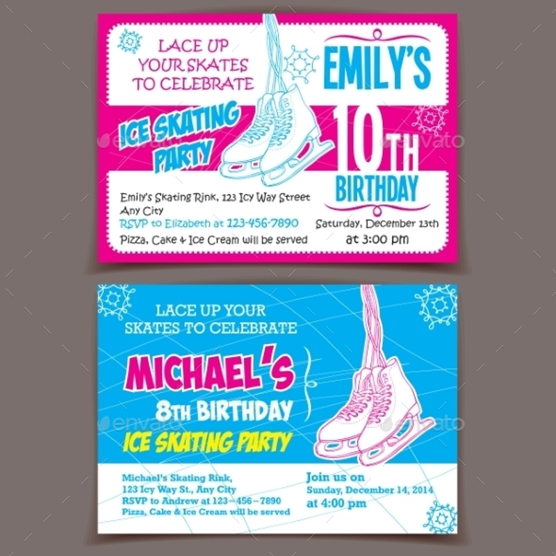 pink surprise party invitation