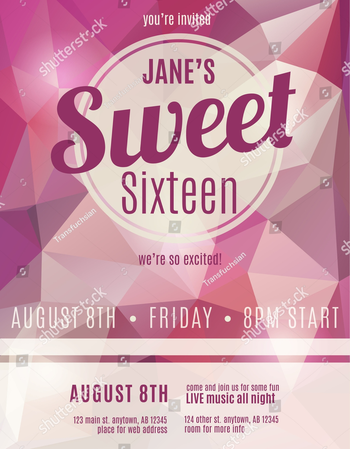 16+ Sweet 16 Birthday Invitation Designs and Examples – PSD, AI