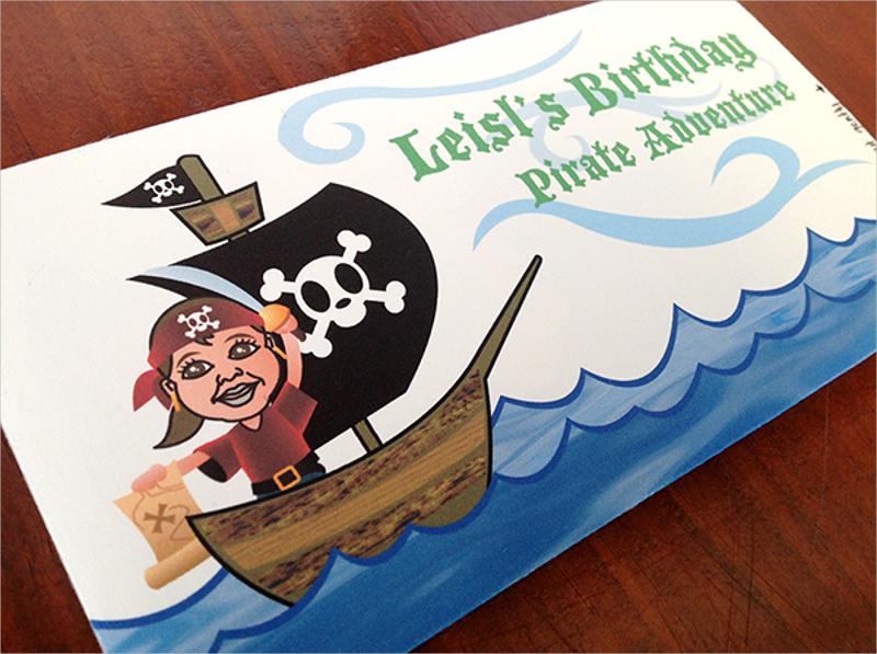 pirate 3rd birthday party invitation