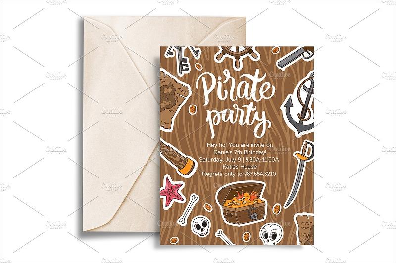 pirate birthday party invitation1