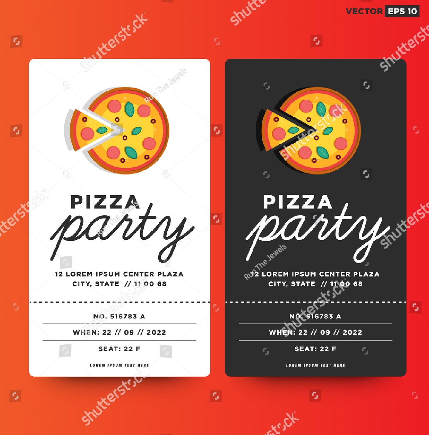pizza party template design