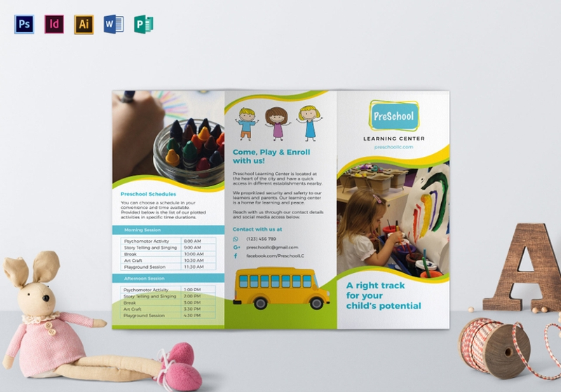 pre school brochure template1