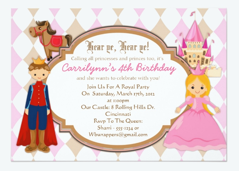 prince birthday party invitation