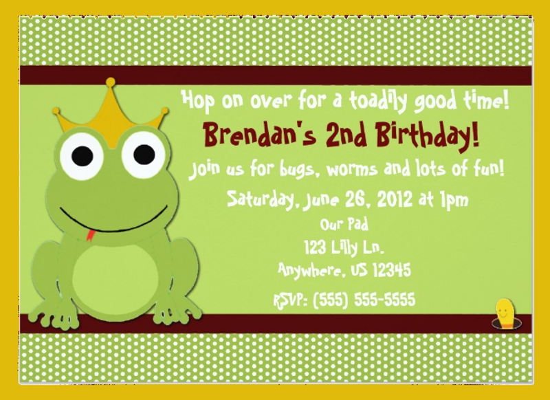 prince boys birthday invitation