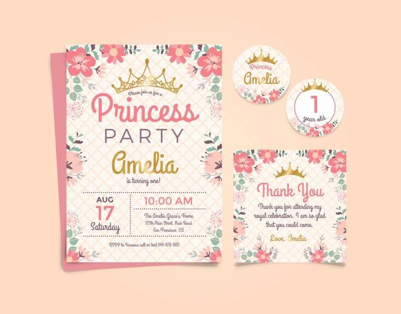 princess birthday invitation1