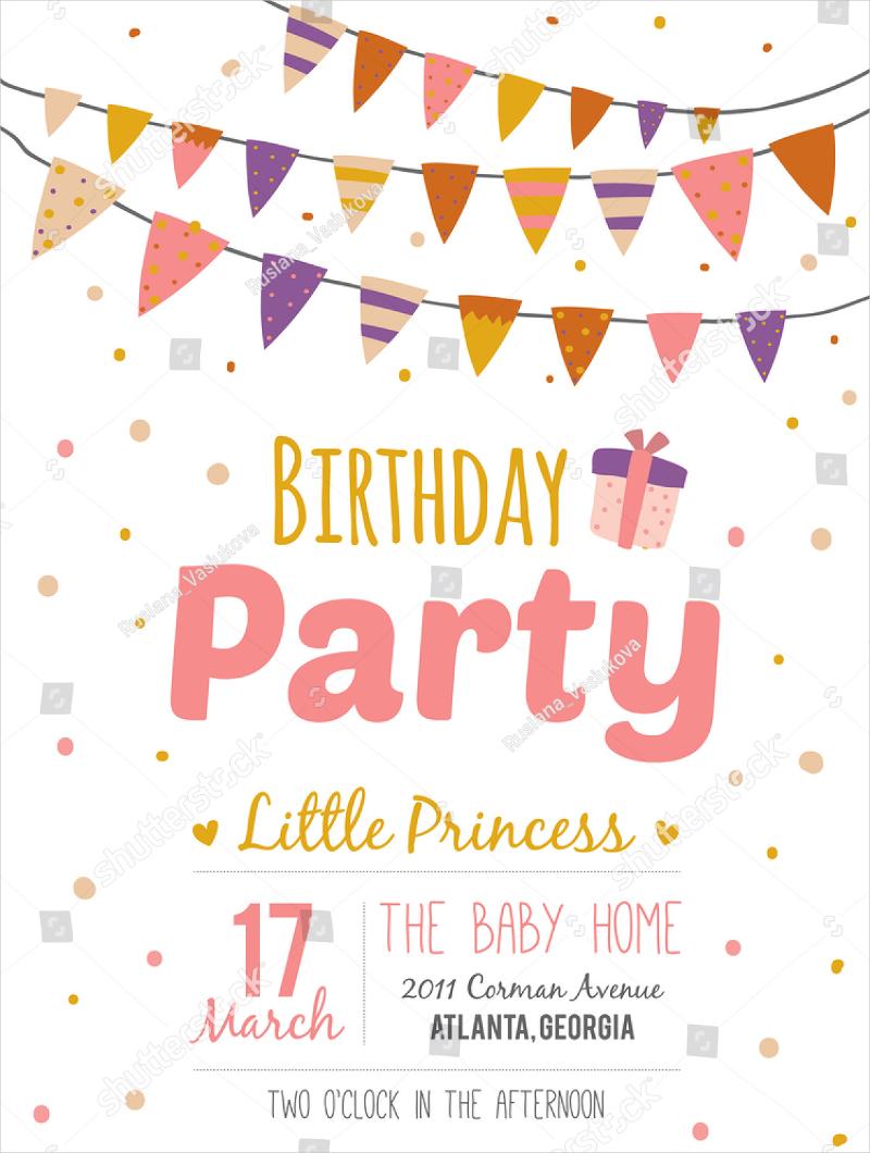 princess birthday party invitation1
