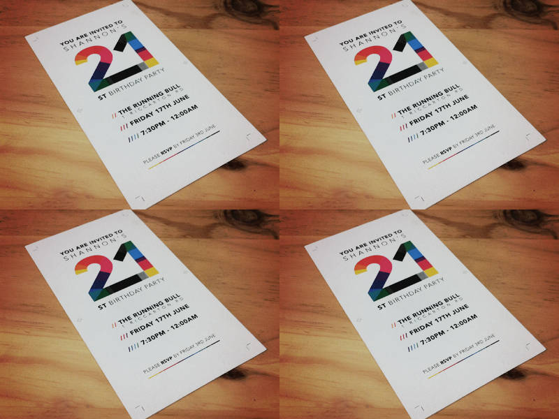 printable 21st birthday invitation
