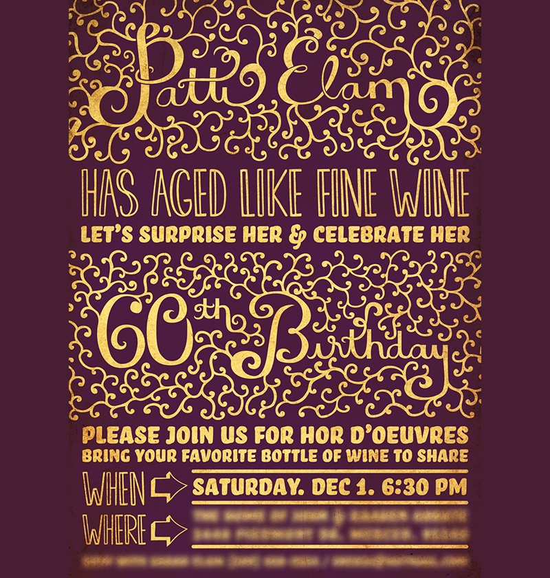 printable 60th birthday invitation