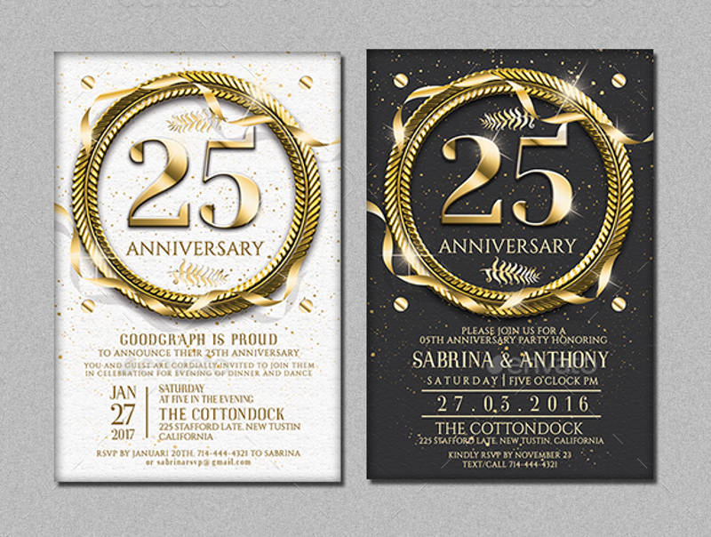 printable anniversary invitation template