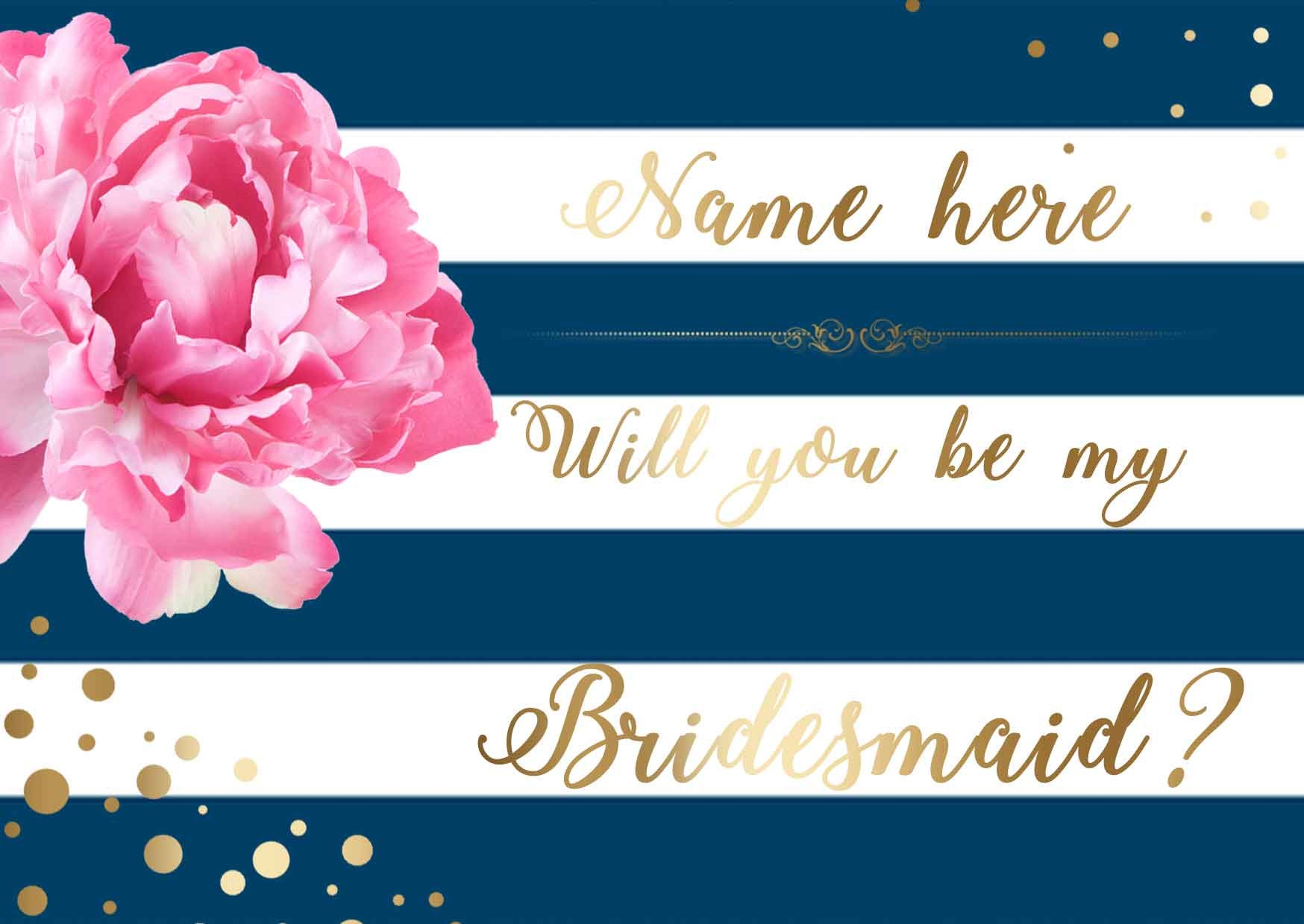 printable bridesmaid invitation