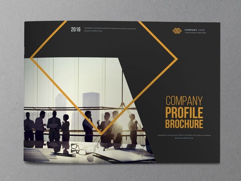 printable company profile brochure design