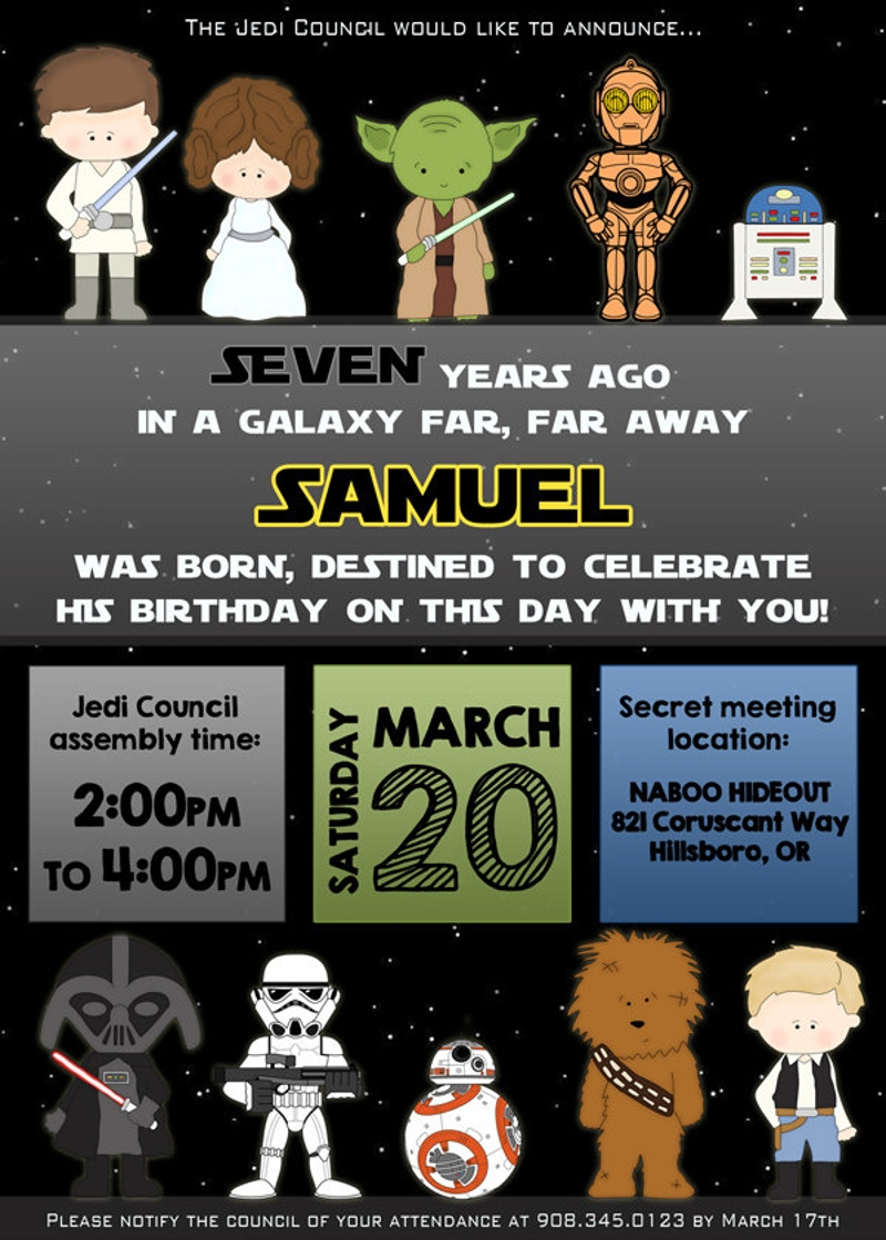 printable diy star wars invitation