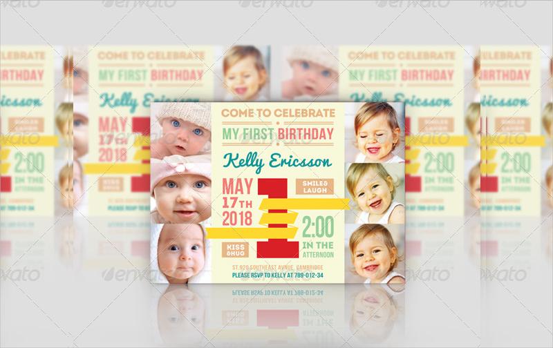 printable first birthday invitation