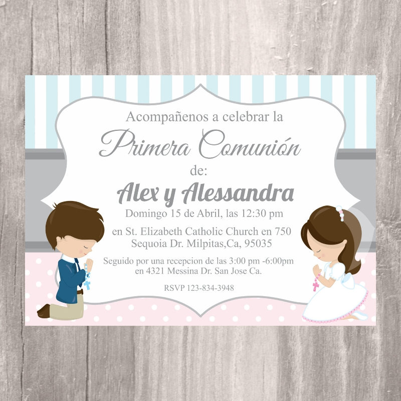 image about Printable First Communion Invitation identified as Cost-free 15+ 1st Communion Invitation Models Illustrations within