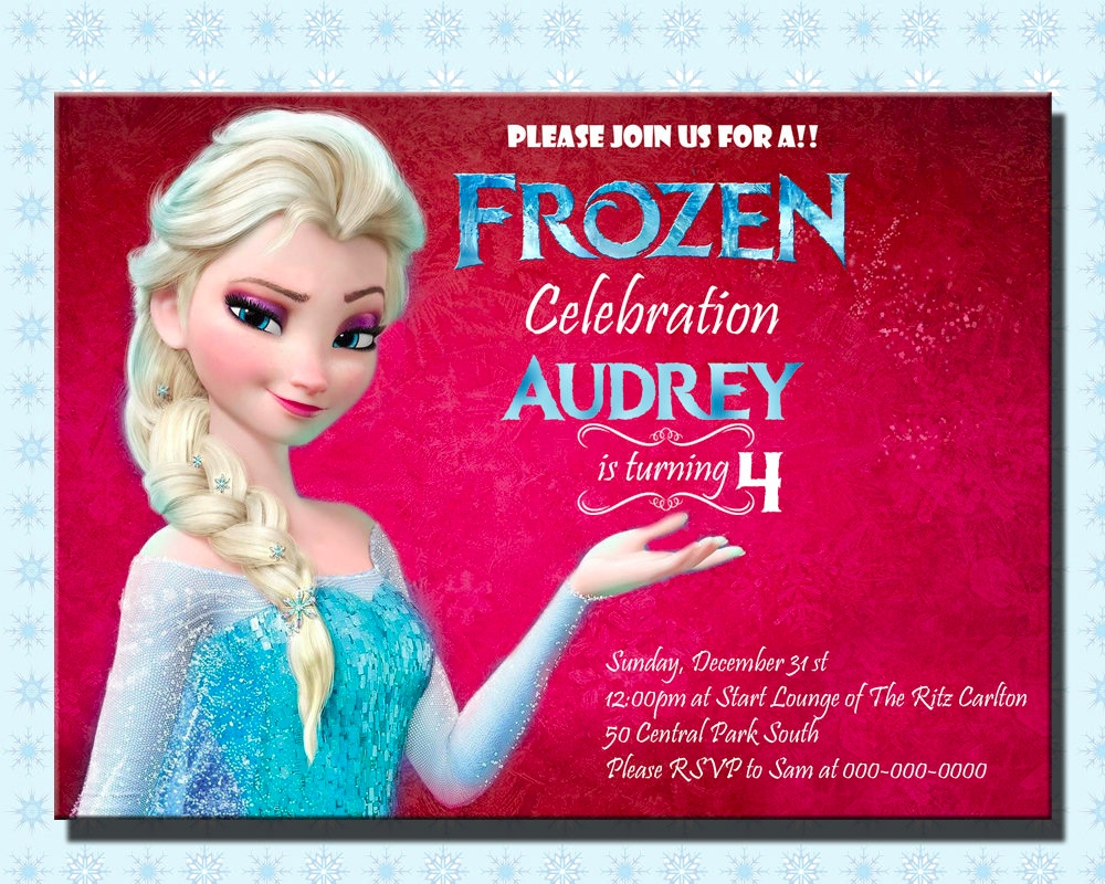 printable frozen party invitation