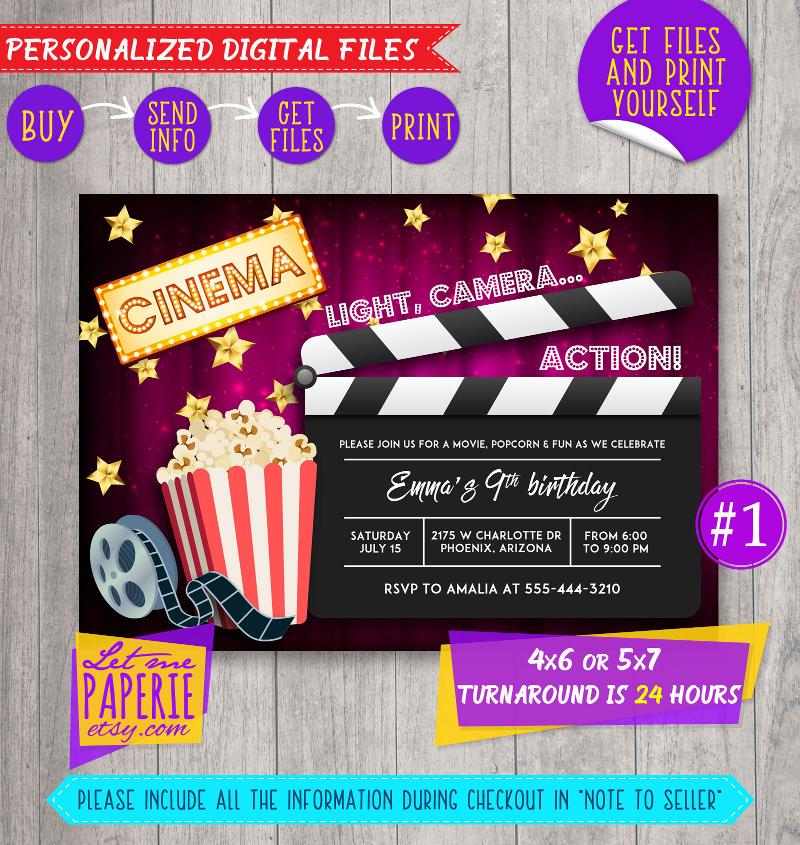 15 movie night invitation designs and examples psd ai