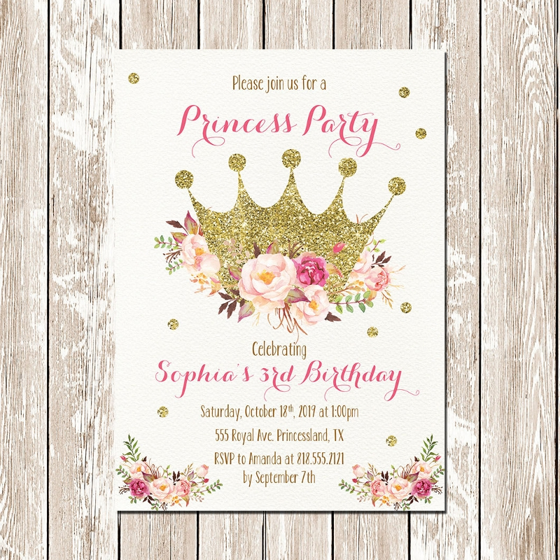 Printable Princess Birthday Party Invitation