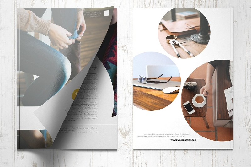 product brochure design template